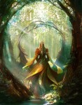 Lady_in_the_forest_by_Edli-500x643